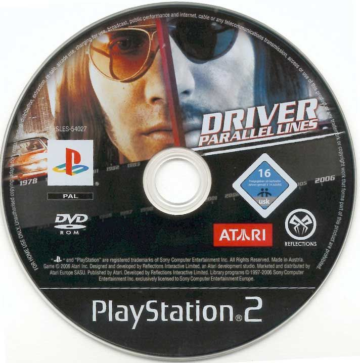 Driver: parallel lines (sony playstation 2, 2006)   ebay.