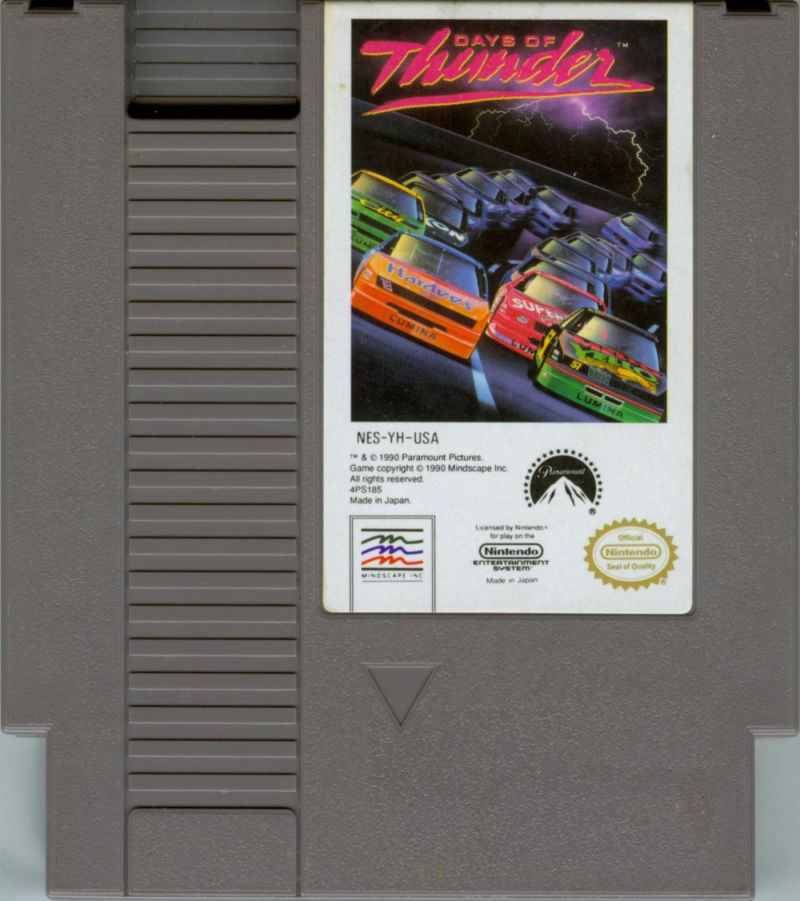 Days of Thunder NES Media