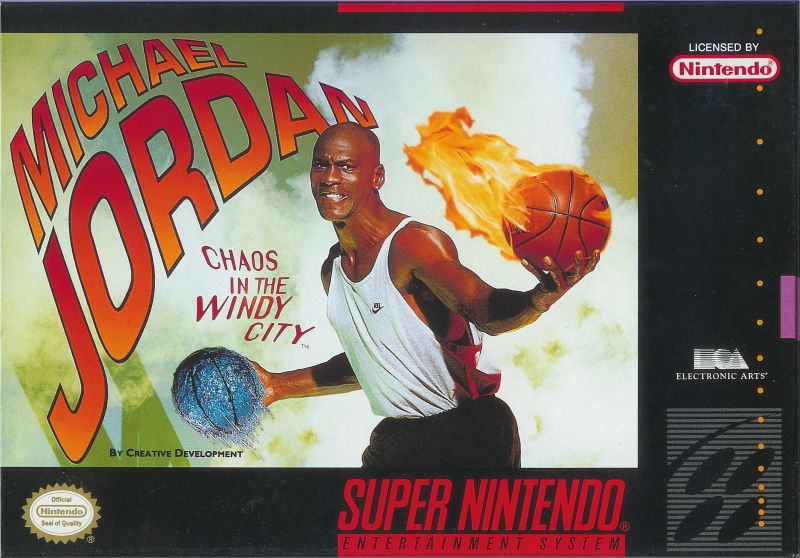 Michael Jordan:  Chaos in the Windy City SNES Front Cover