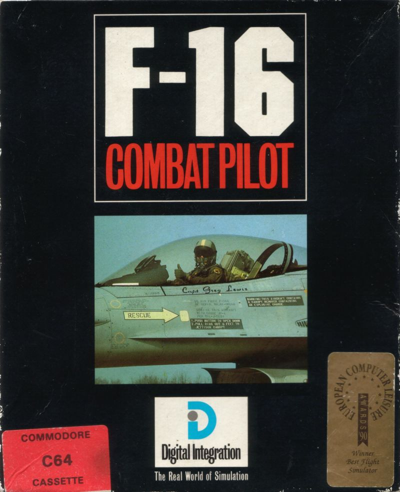 F-16 Combat Pilot Commodore 64 Front Cover