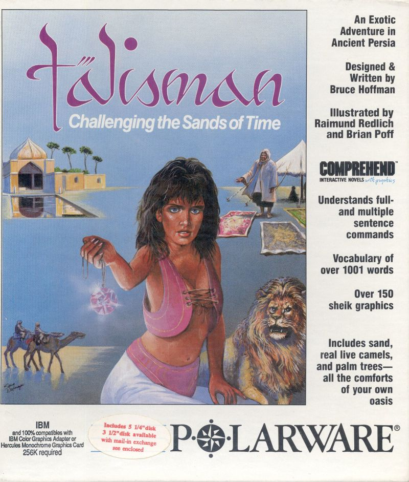Talisman: Challenging the Sands of Time DOS Front Cover