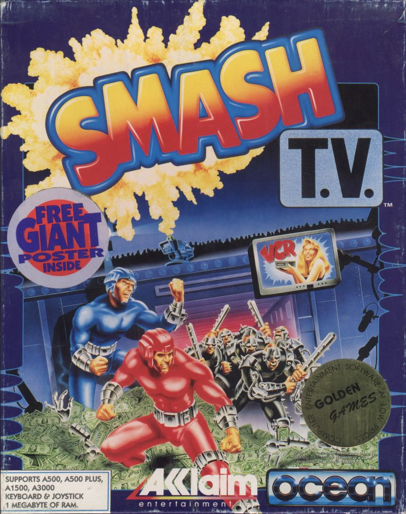 Smash T.V. Amiga Front Cover