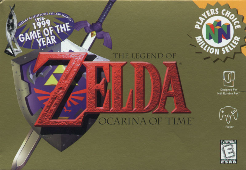 The Legend of Zelda: Ocarina of Time Nintendo 64 Front Cover
