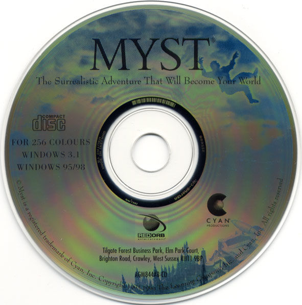 Ages of Myst Macintosh Media Myst Disc