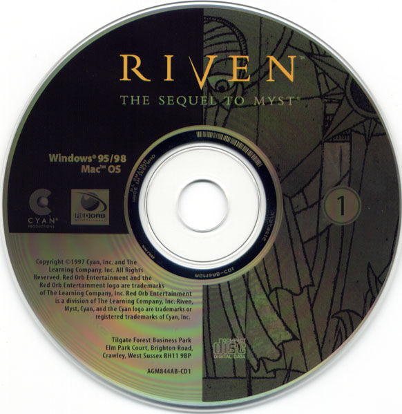 Ages of Myst Macintosh Media Riven Disc 1