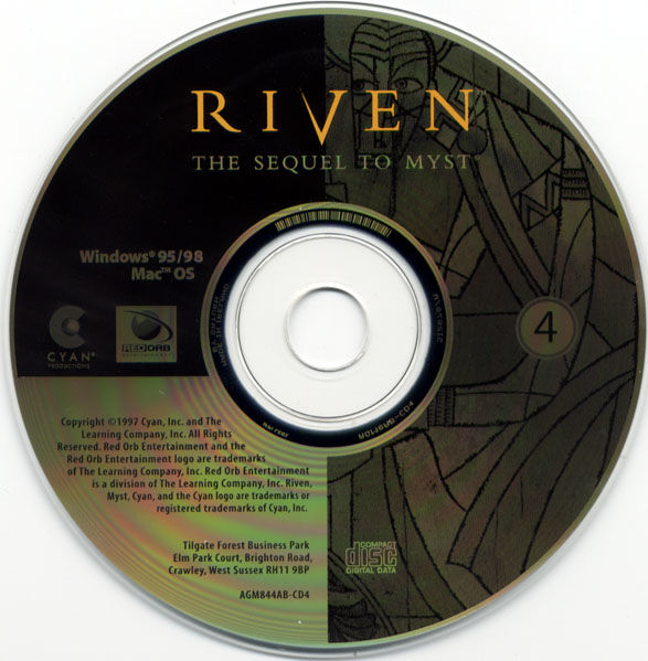 Ages of Myst Macintosh Media Riven Disc 4