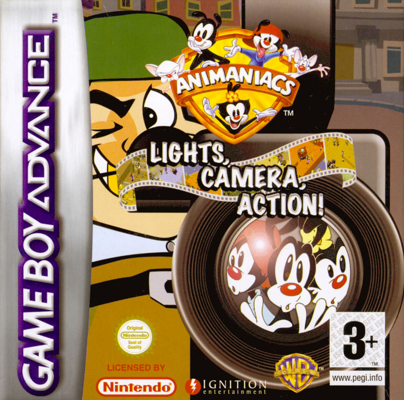 Animaniacs: Lights, Camera, Action! Game Boy Advance Front Cover