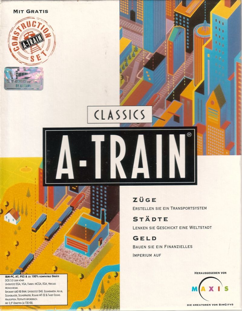 A-Train + Construction Set DOS Front Cover