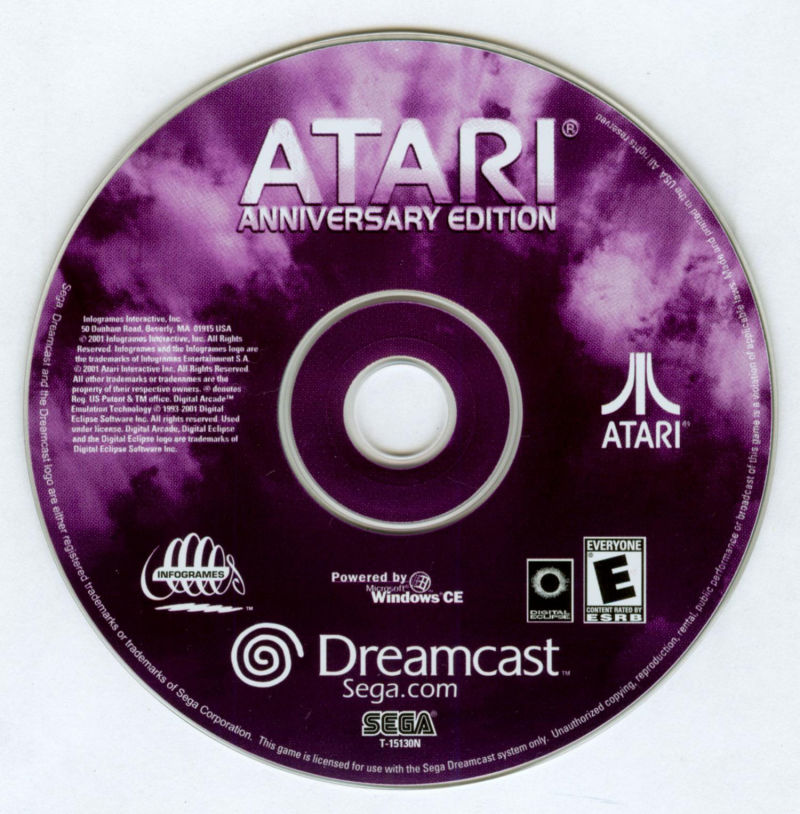 Atari Anniversary Edition Dreamcast Media