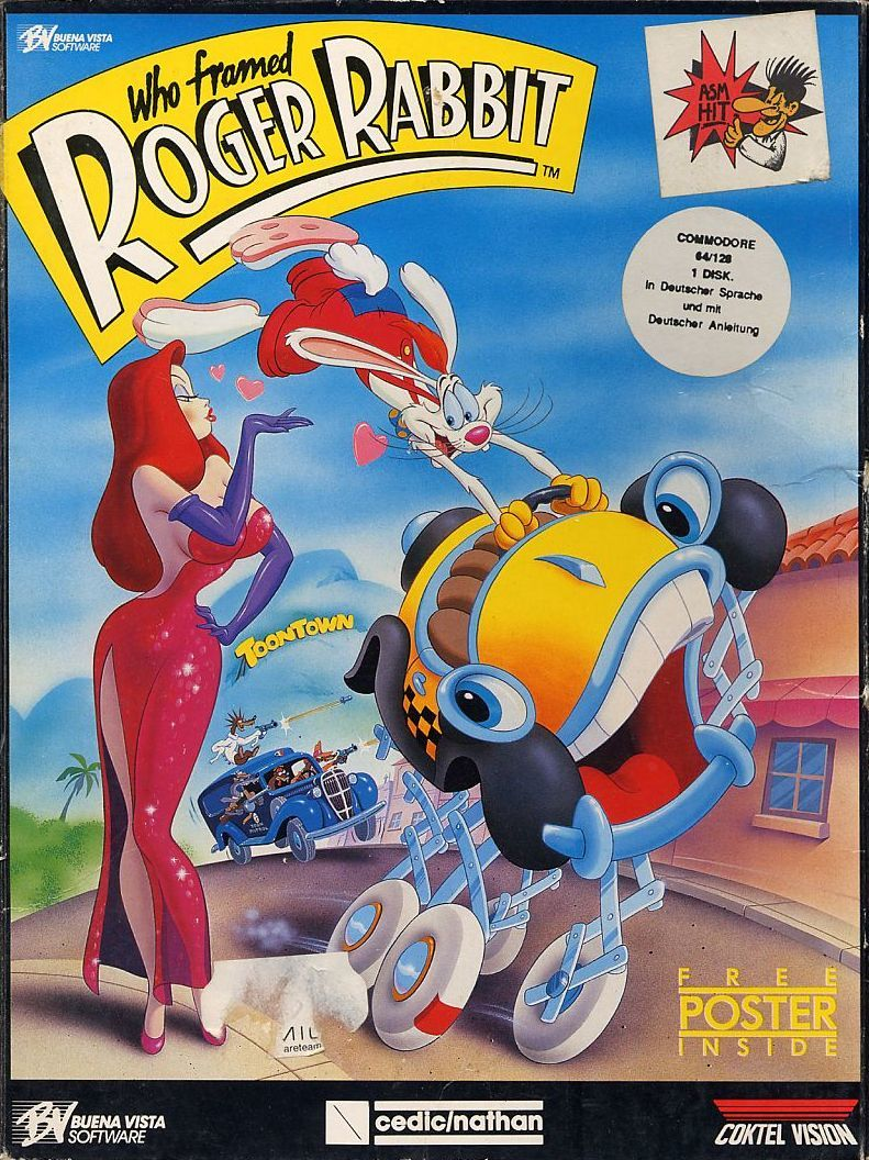 Who Framed Roger Rabbit For Commodore 64 1988 Mobygames