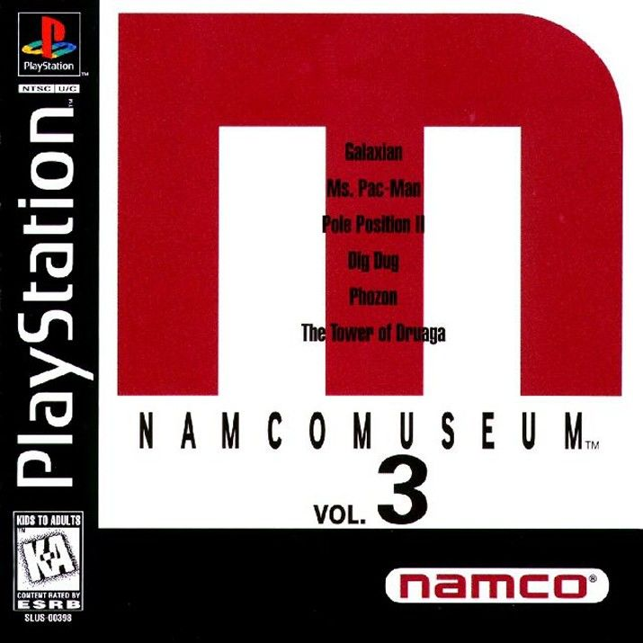 Namco Museum Vol. 3 PlayStation Front Cover