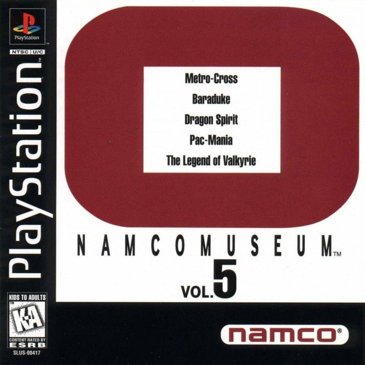 Namco Museum Vol. 5 PlayStation Front Cover