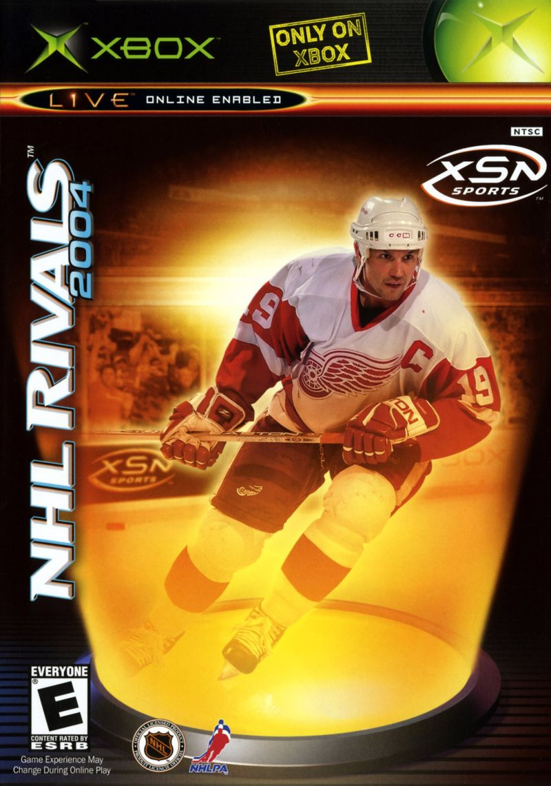 NHL Rivals 2004 Xbox Front Cover
