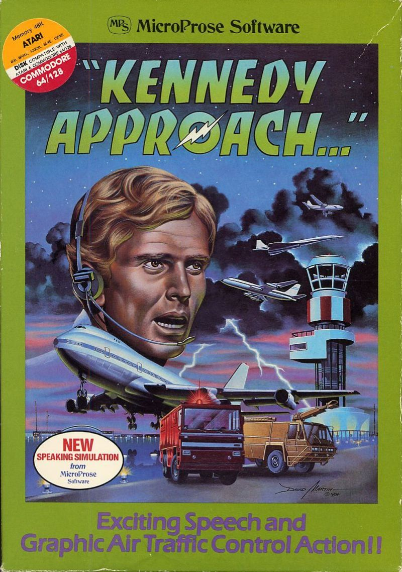 Kennedy Approach Atari 8-bit Front Cover first release in soft cardboard box