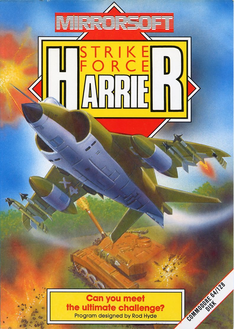 Strike Force Harrier Commodore 64 Front Cover