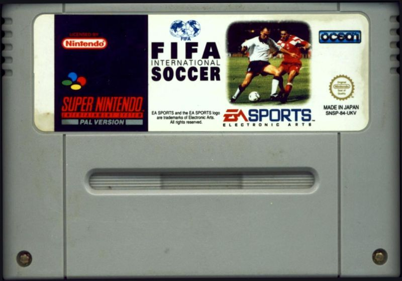 FIFA International Soccer SNES Media