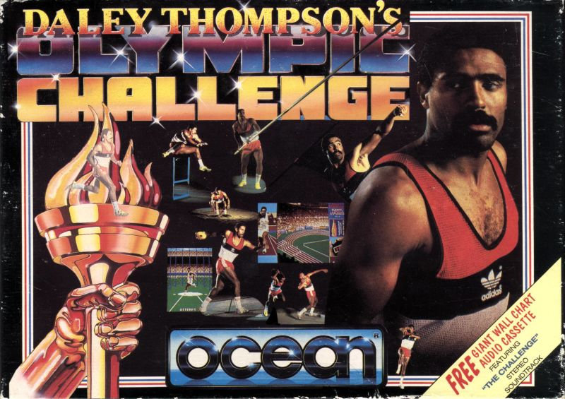 Daley Thompson's Olympic Challenge Atari ST Front Cover