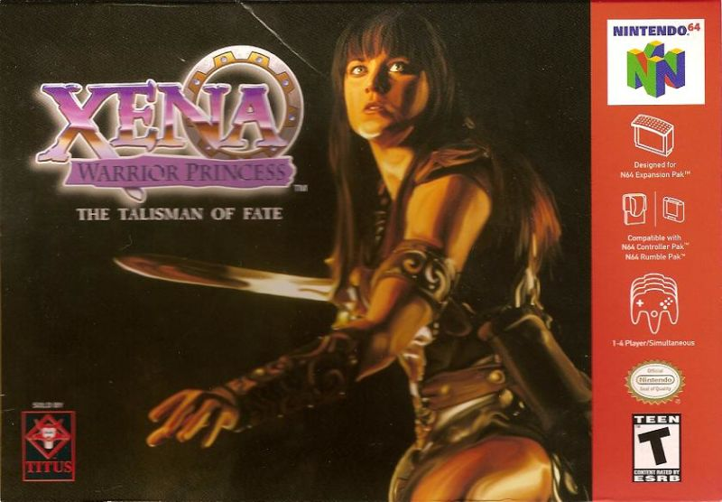 Xena: Warrior Princess - The Talisman of Fate Nintendo 64 Front Cover