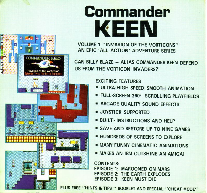 Commander Keen: Invasion of the Vorticons DOS Front Cover