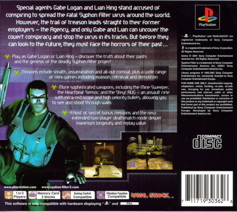 Syphon Filter 3 (2011) Android box cover art - MobyGames