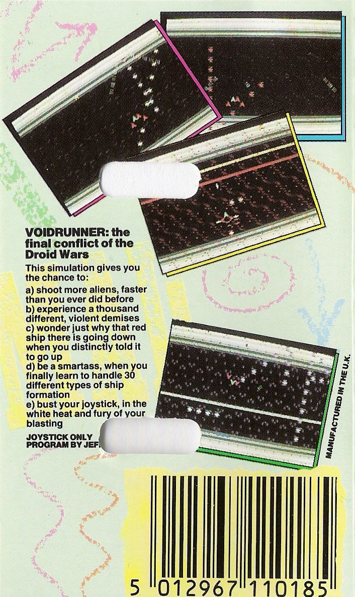 Voidrunner Commodore 64 Back Cover