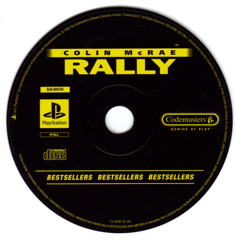 Colin McRae Rally PlayStation Media