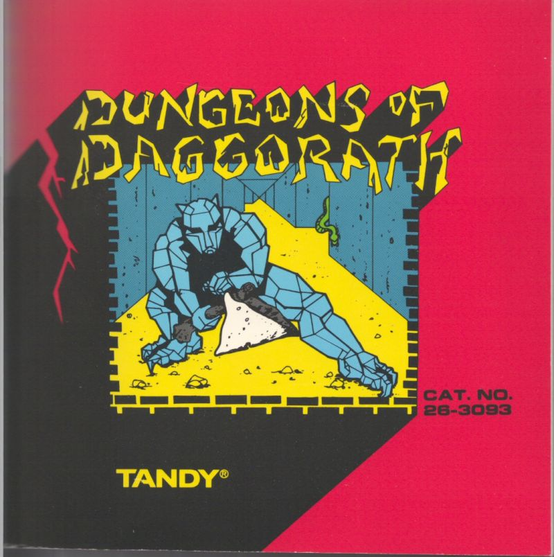 Dungeons of Daggorath TRS-80 CoCo Front Cover