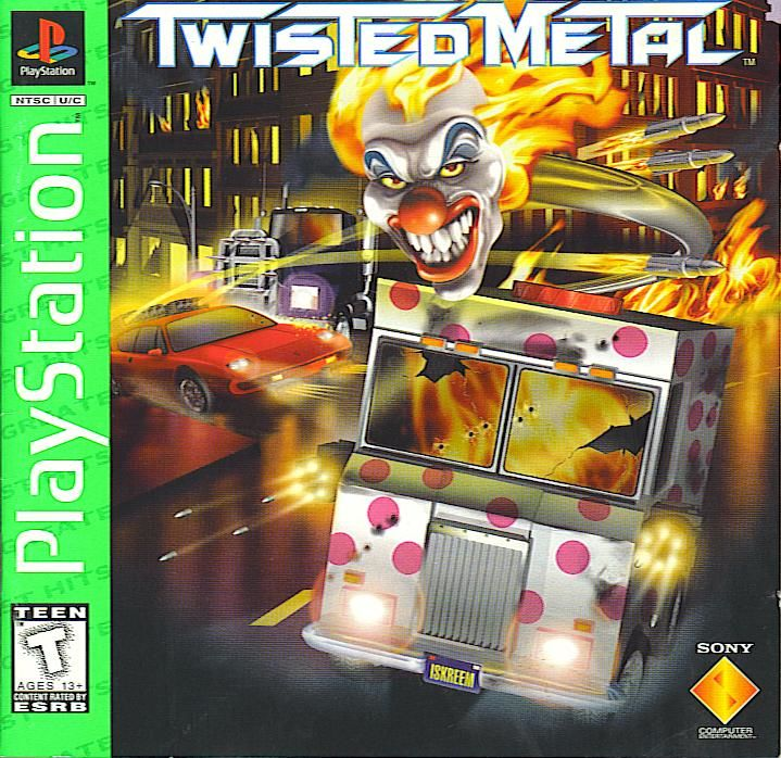 Twisted Metal PlayStation Front Cover Also a manual