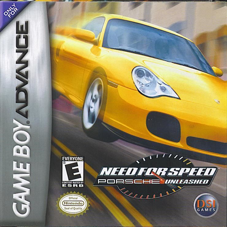 Need for Speed: Porsche Unleashed Game Boy Advance Front Cover