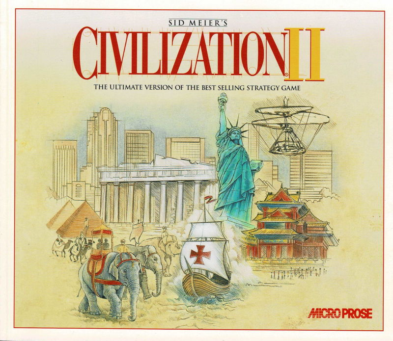 The Best of Microprose Strategy DOS Manual Civilization II - Front