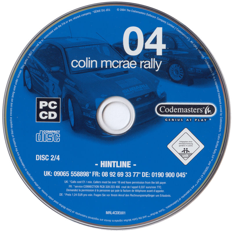 Colin McRae Rally 04 Windows Media Disc 2/4