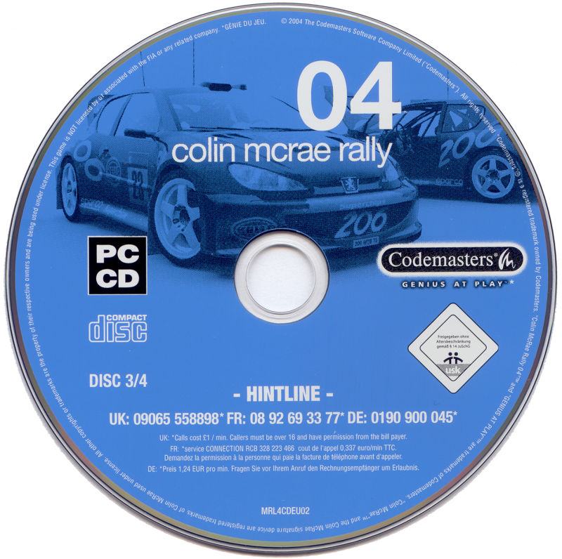 Colin McRae Rally 04 Windows Media Disc 3/4