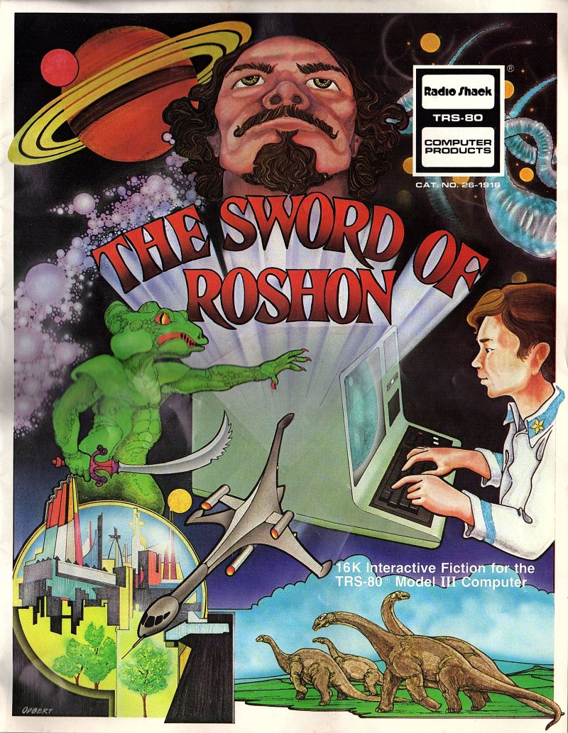 Sword of Roshon TRS-80 Front Cover