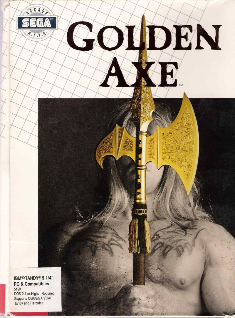 Golden Axe DOS Front Cover