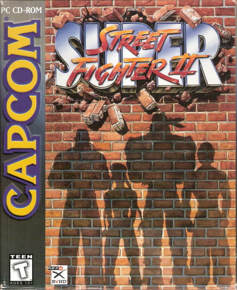 Super Street Fighter II DOS Front Cover
