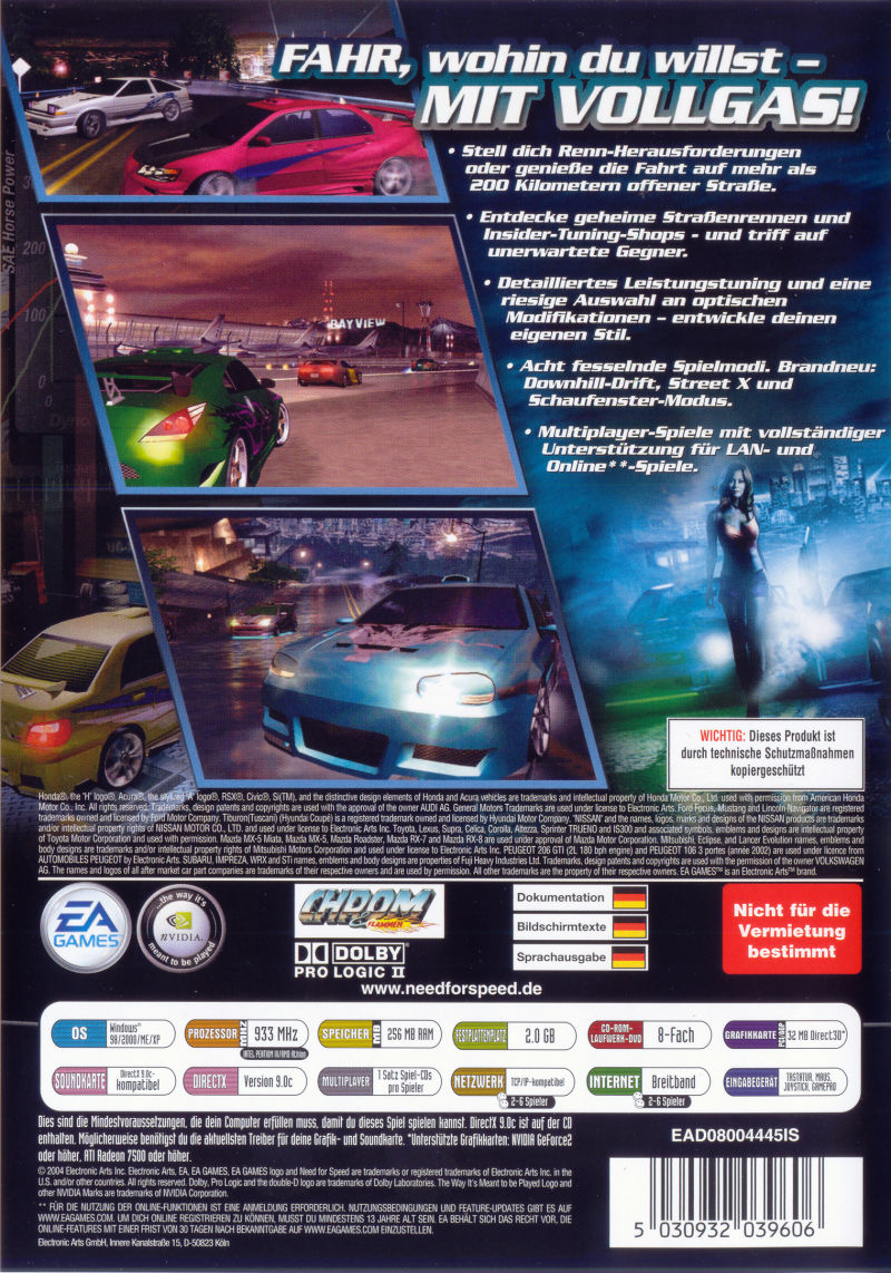 289c8360c Need for Speed: Underground 2 (2004) Windows box cover art - MobyGames