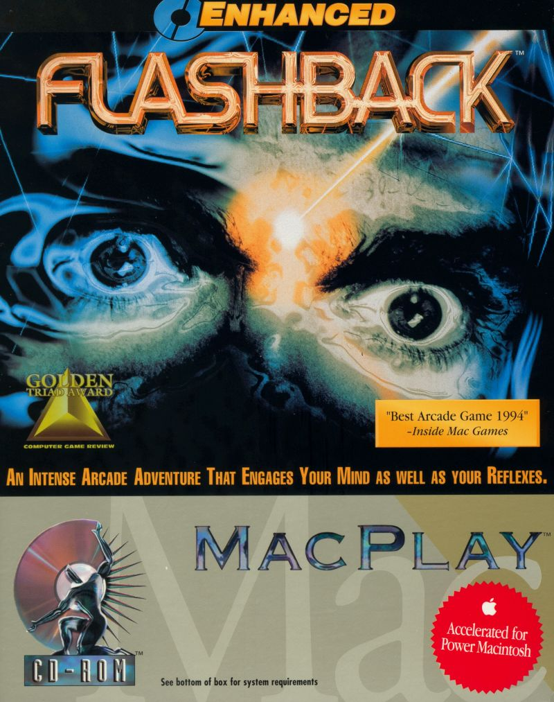 Flashback: The Quest for Identity Macintosh Front Cover