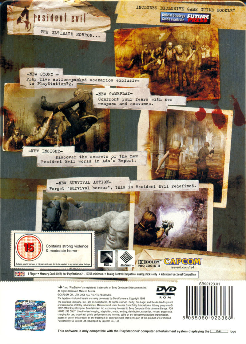 Resident Evil 4 (Limited Edition) PlayStation 2 Back Cover