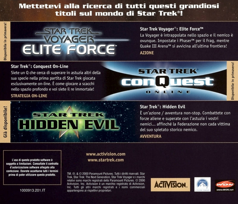 Star Trek: Armada Windows Other Jewel Case - Back