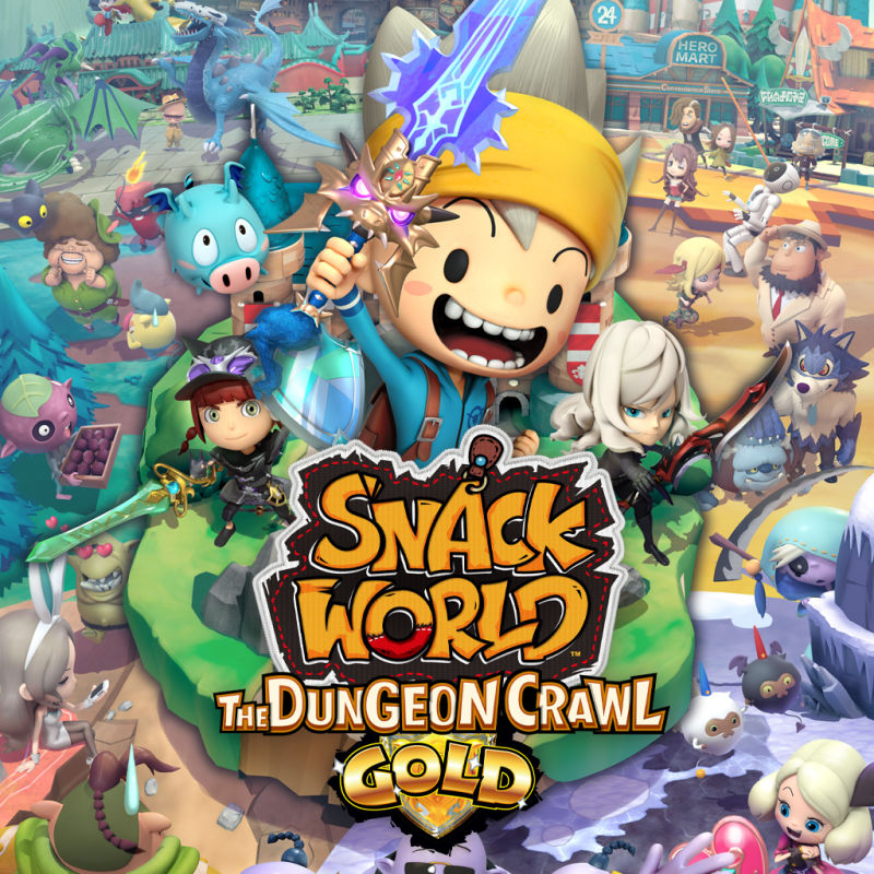 Snack World: The Dungeon Crawl - Gold Nintendo Switch Front Cover