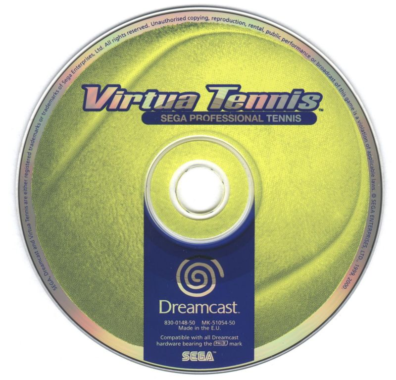 Virtua Tennis Dreamcast Media