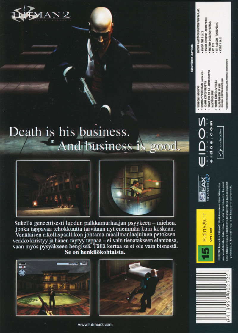 Hitman 2: Silent Assassin Windows Back Cover