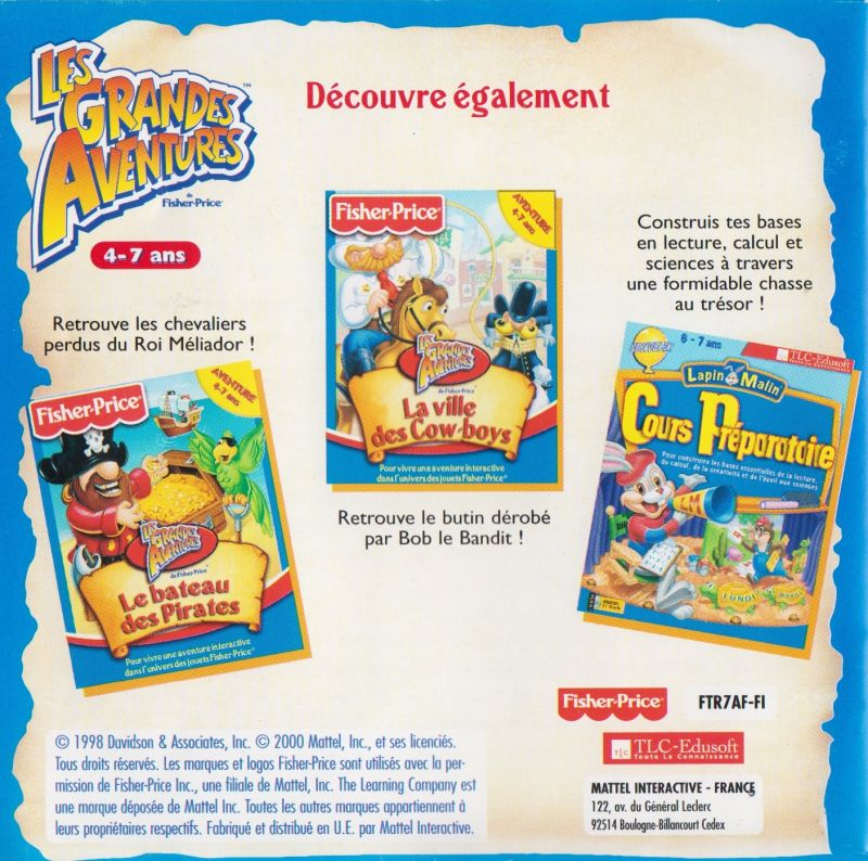 Great Adventures By Fisher Price Castle For Windows 1995 Mobygames