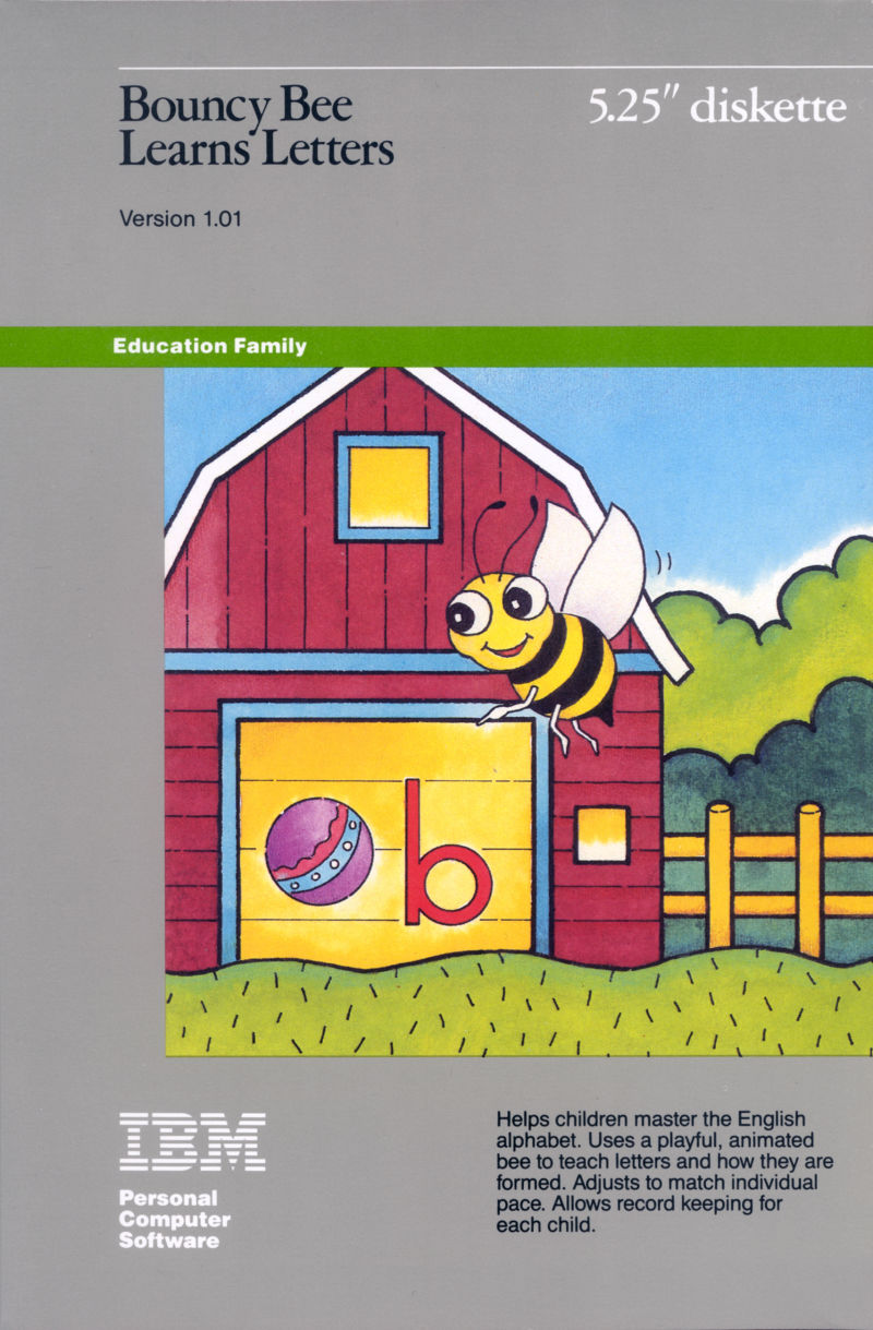 Bouncy Bee Learns Letters DOS Front Cover