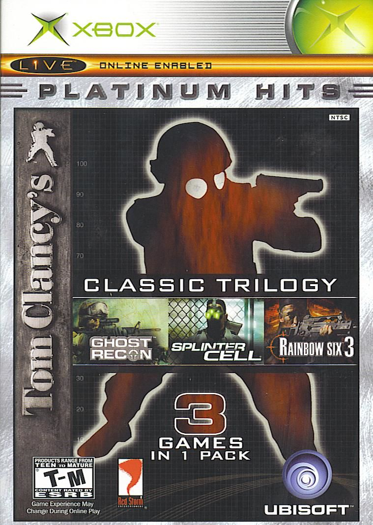 Book Cover Pictures Xbox : Tom clancy s classic trilogy for windows mobygames