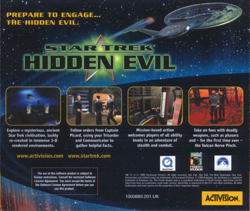 Star Trek: Hidden Evil Windows Other Jewel Case - Back