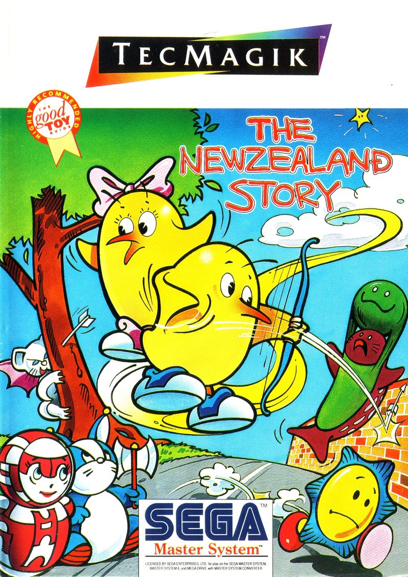 The New Zealand Story SEGA Master System Front Cover