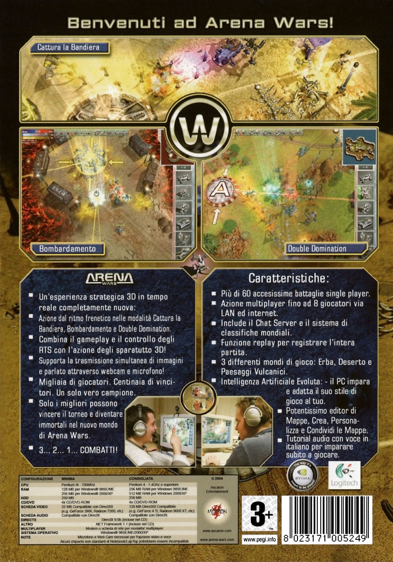 Arena Wars Windows Back Cover