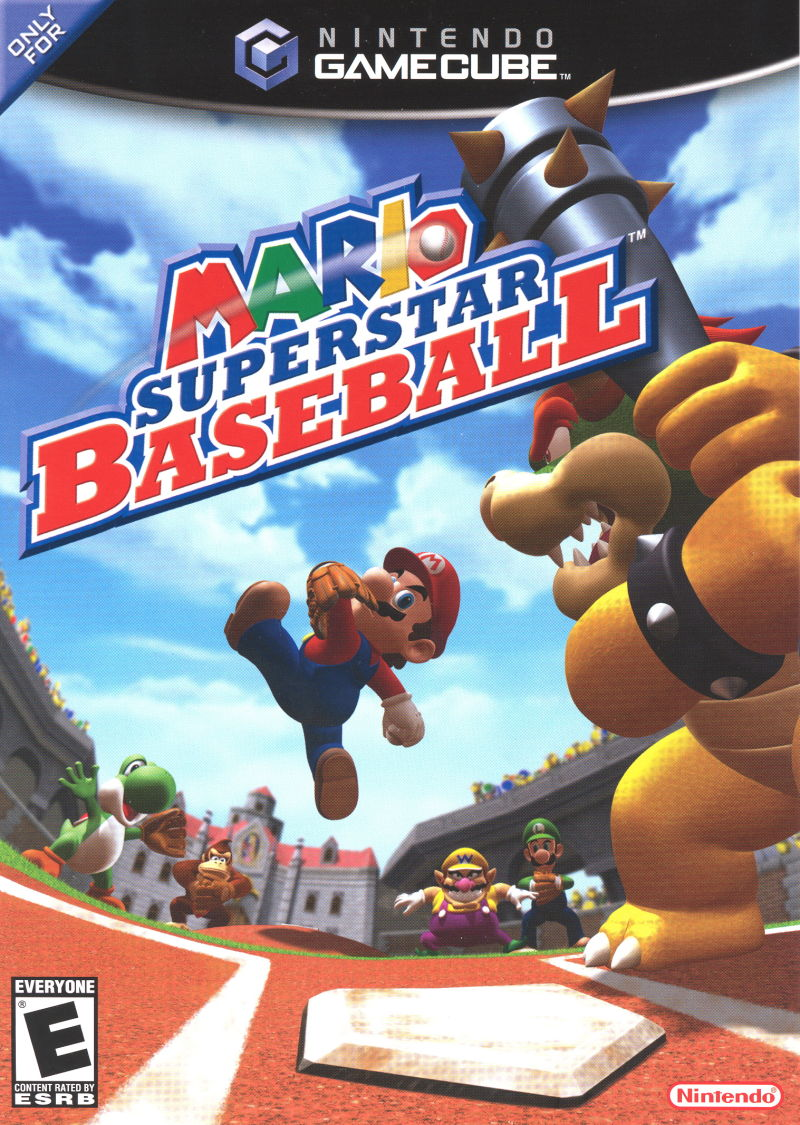Mario Superstar Baseball GameCube Front Cover