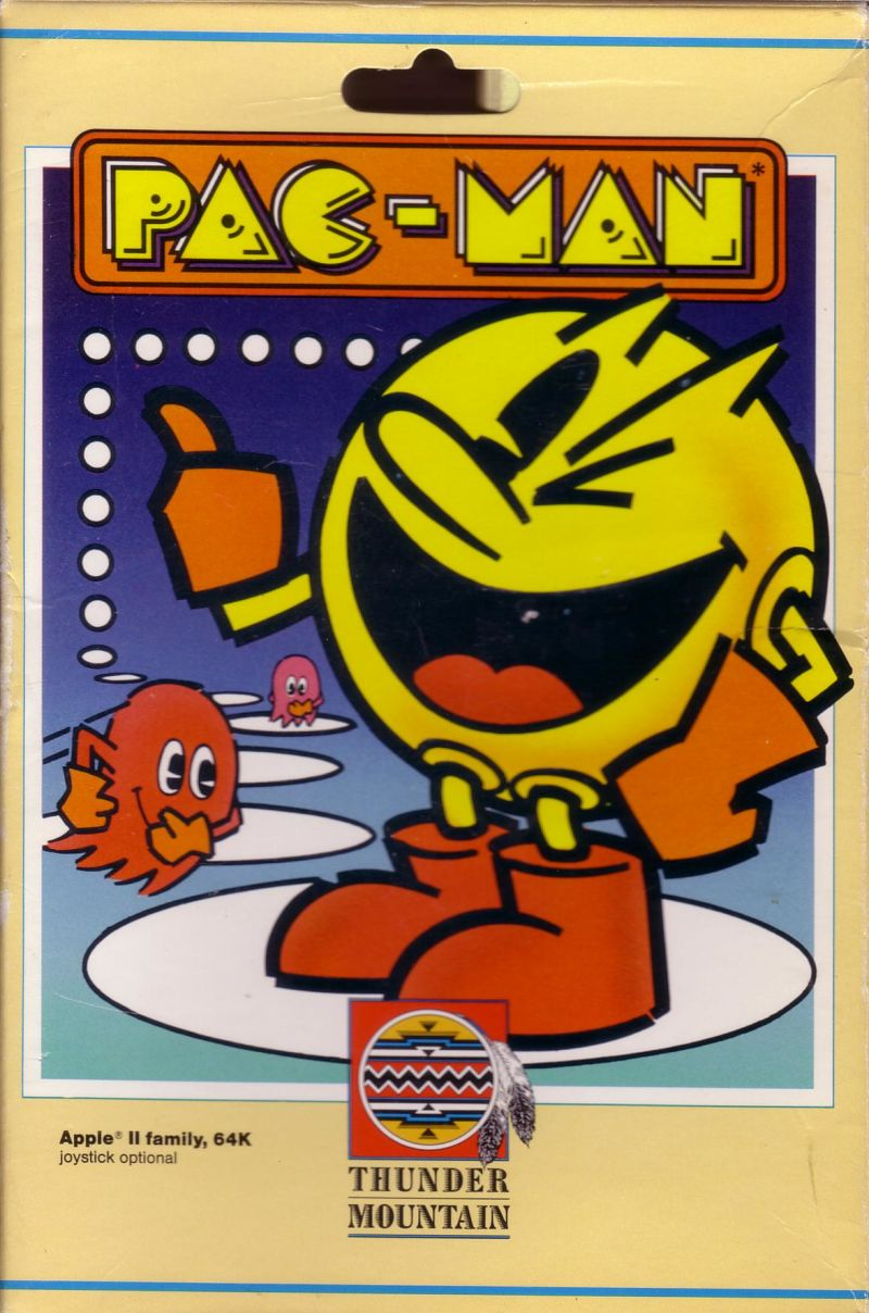 Pac-Man Apple II Front Cover